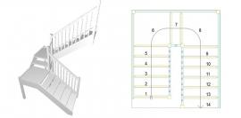 U-trepp kahe platvormiga